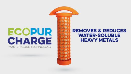 The EcoPur Charge removes water-soluble heavy metals from your hot tub