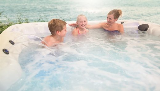 hot tub maintenance is easy with family help
