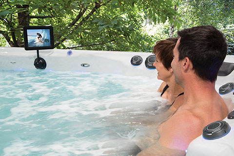 Relax in the therapy seats of a swim spa from Master Spas