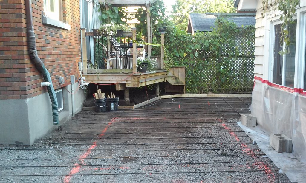concrete patio installation