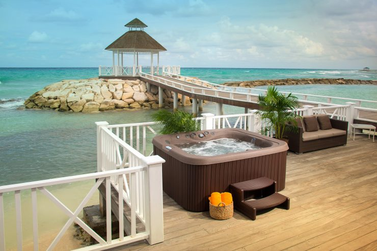 beach hot tub installation