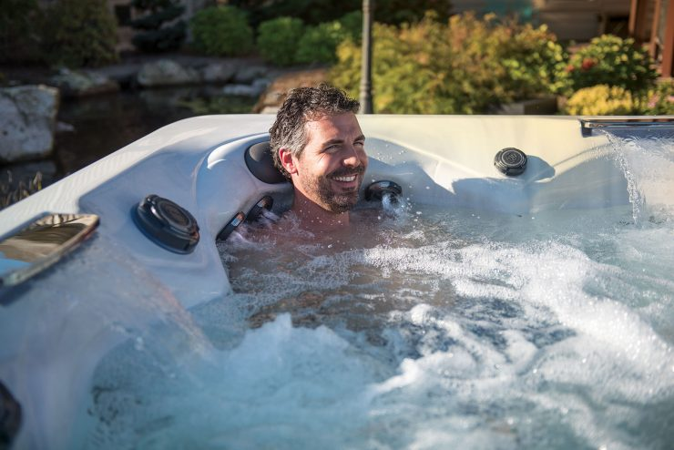 neck pain hot tub