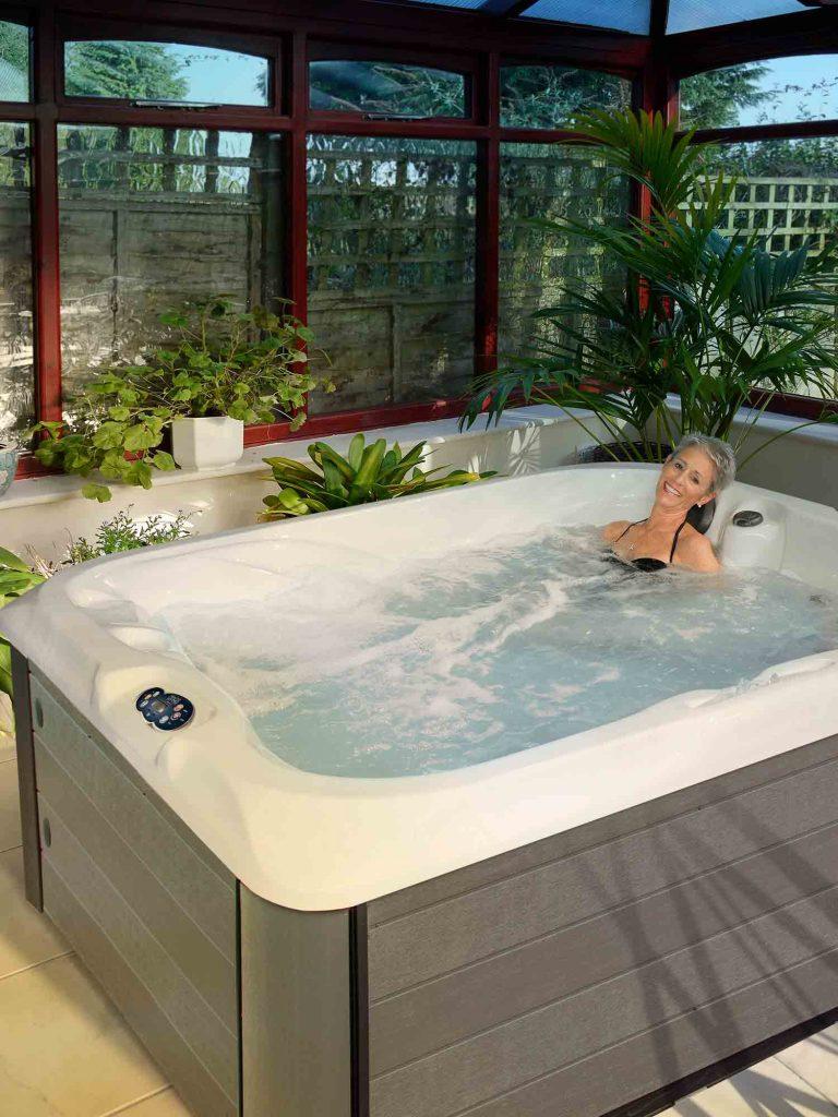 three person hot tub