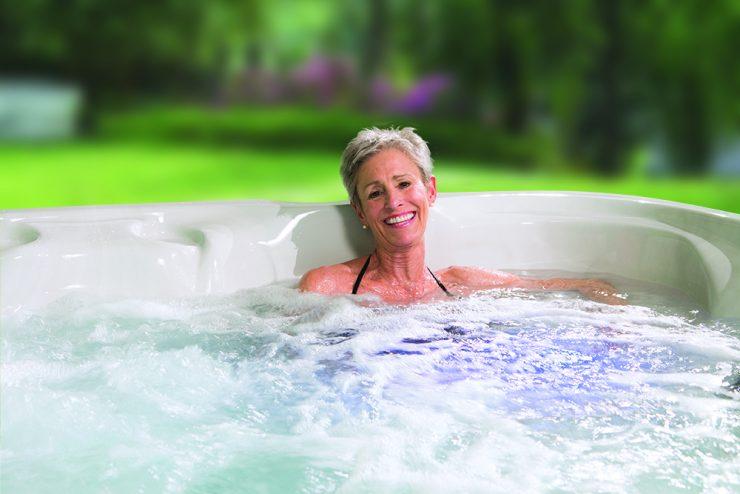 small hot tub backyard