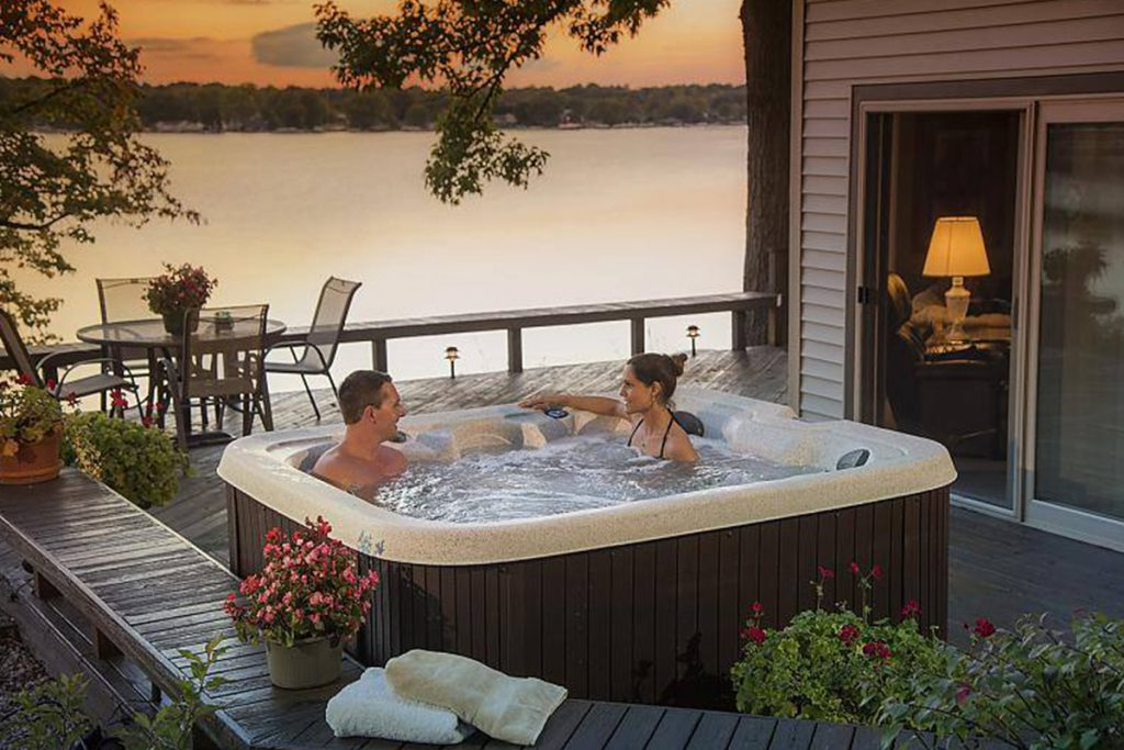 plug and play hot tub