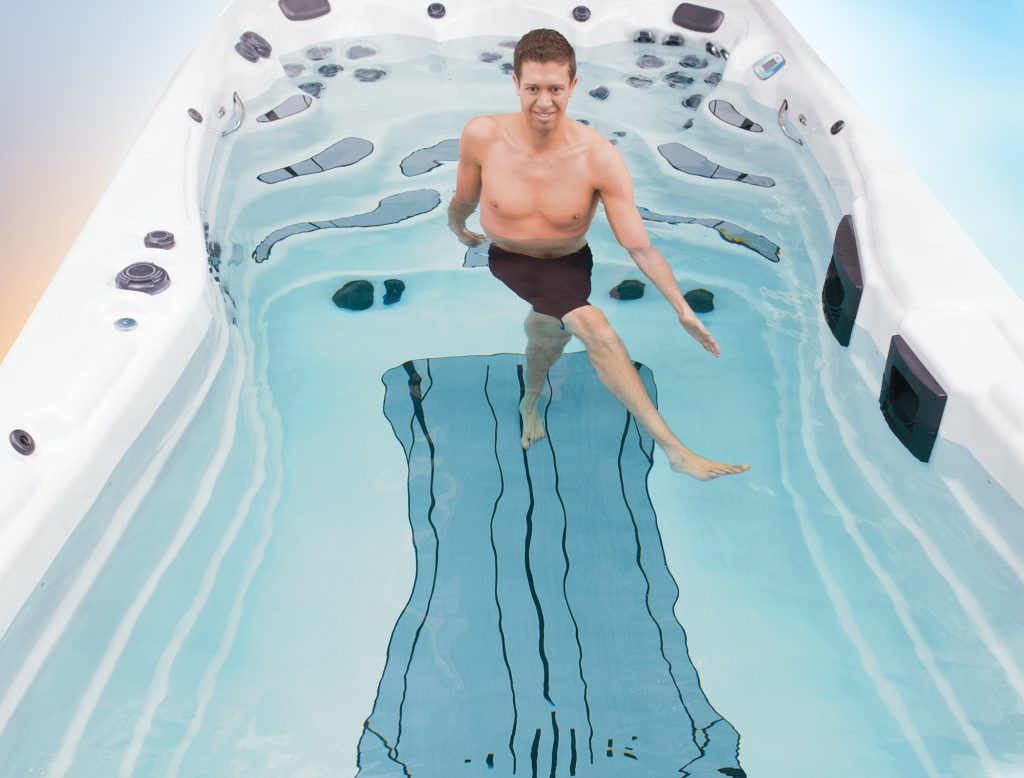 swim spa stretches
