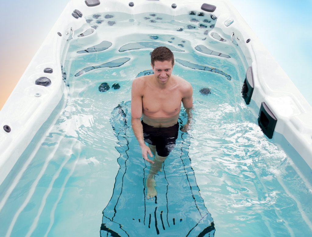hot tub stretching