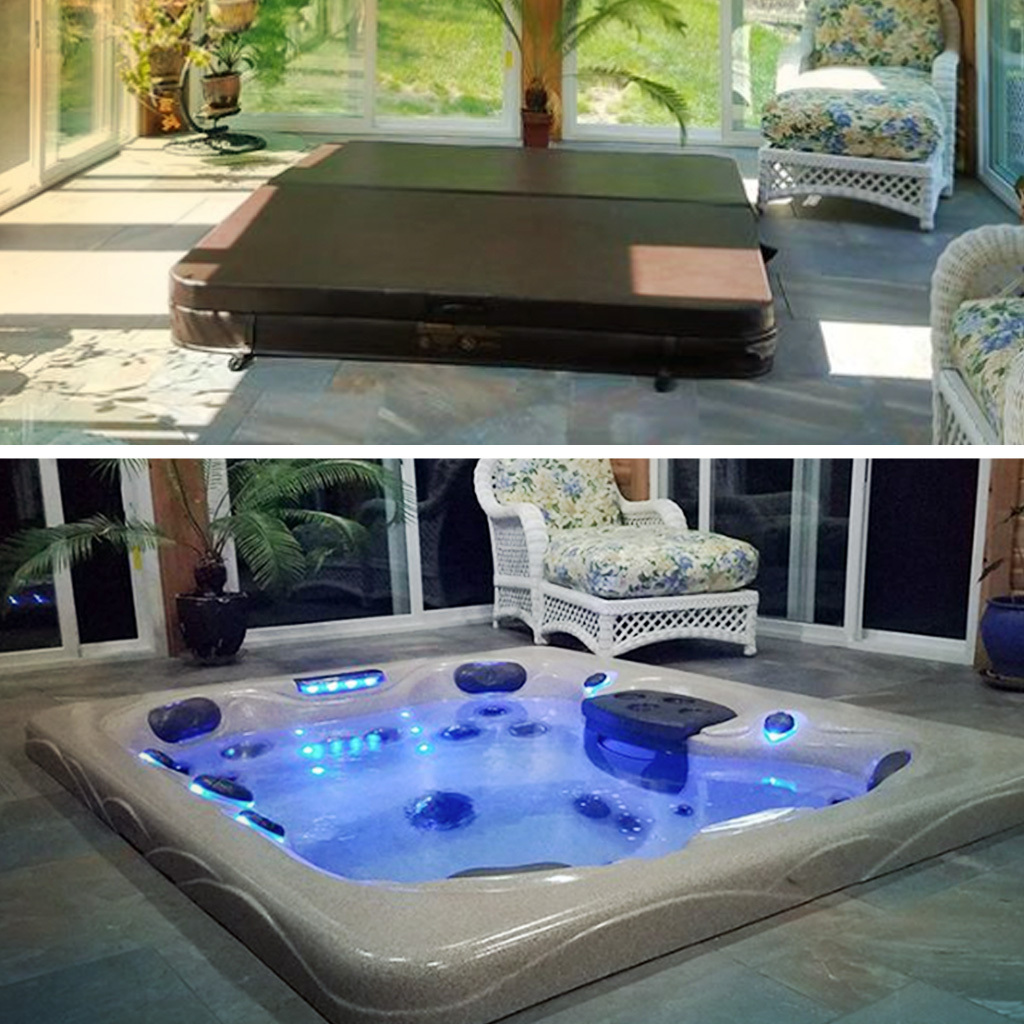 hot tub lighting ideas