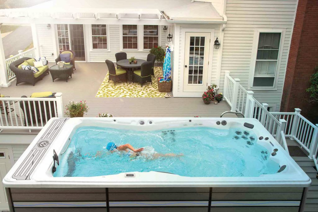 swimming swim spa