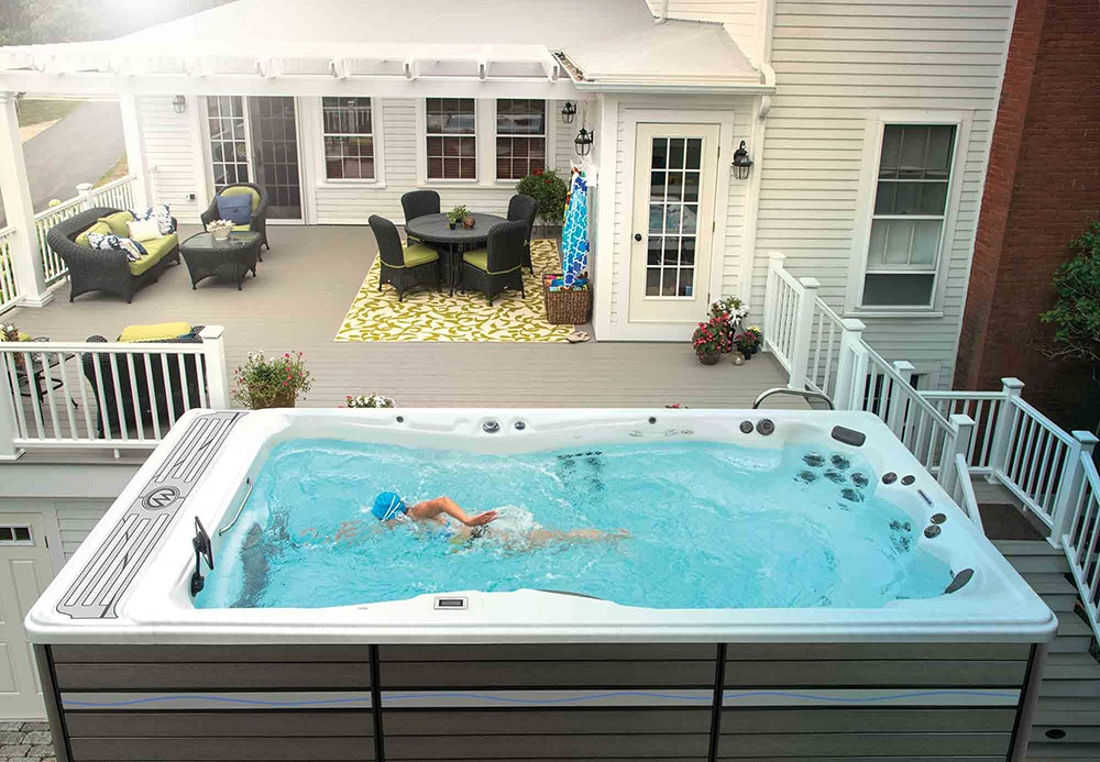 swim spa installation HOA