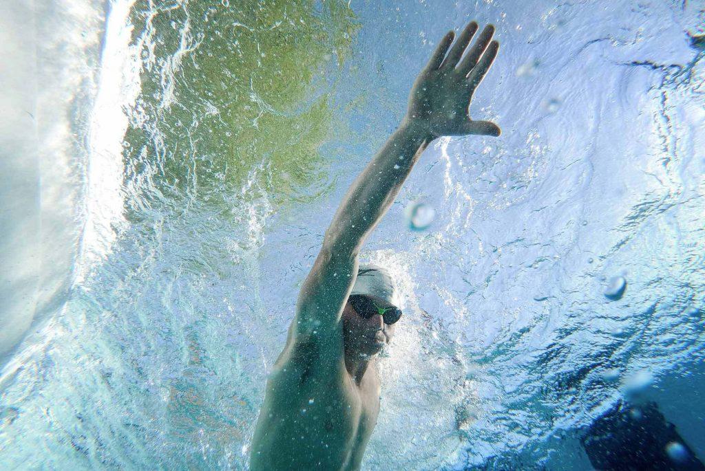 swim spa swimming