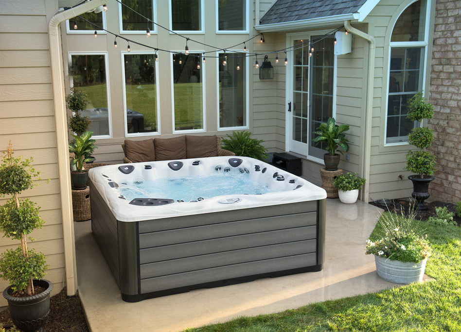 spa on concrete pad