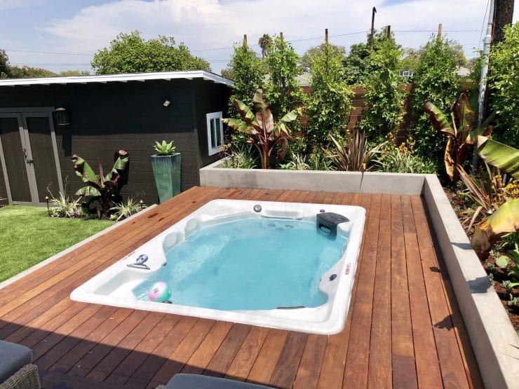 inground swim spa installation