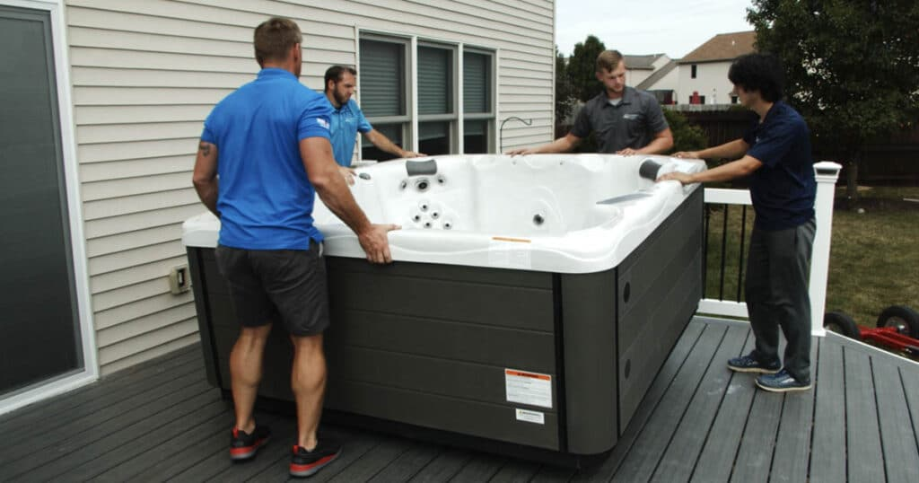 hot tub delivery tips