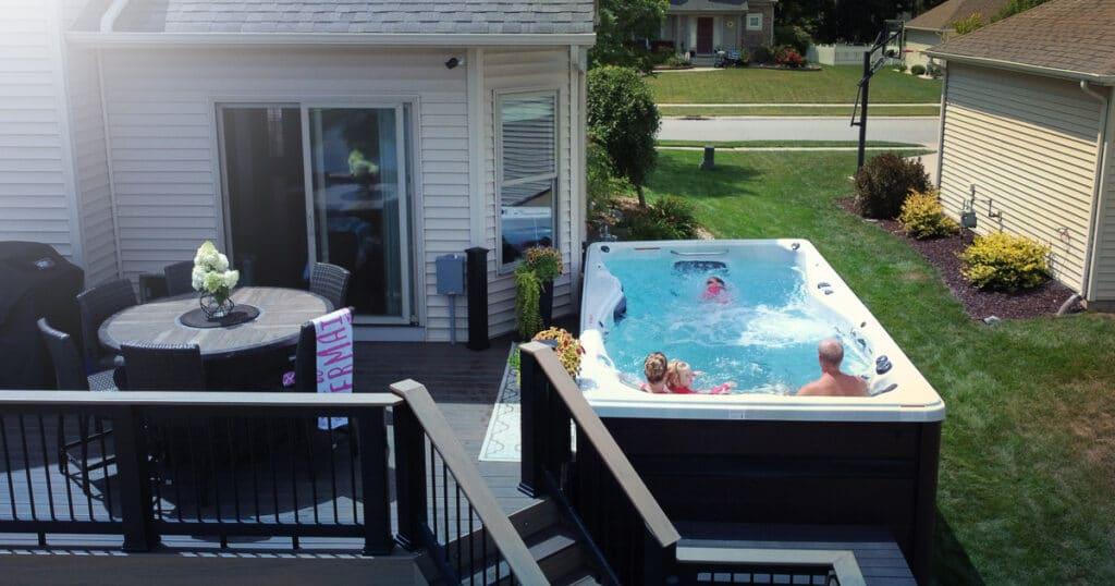 installing swim spa