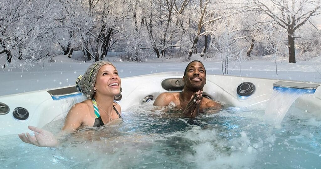 hot tub snow