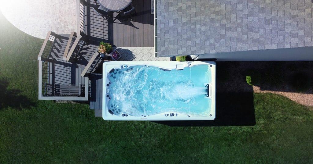 15-foot swim spa
