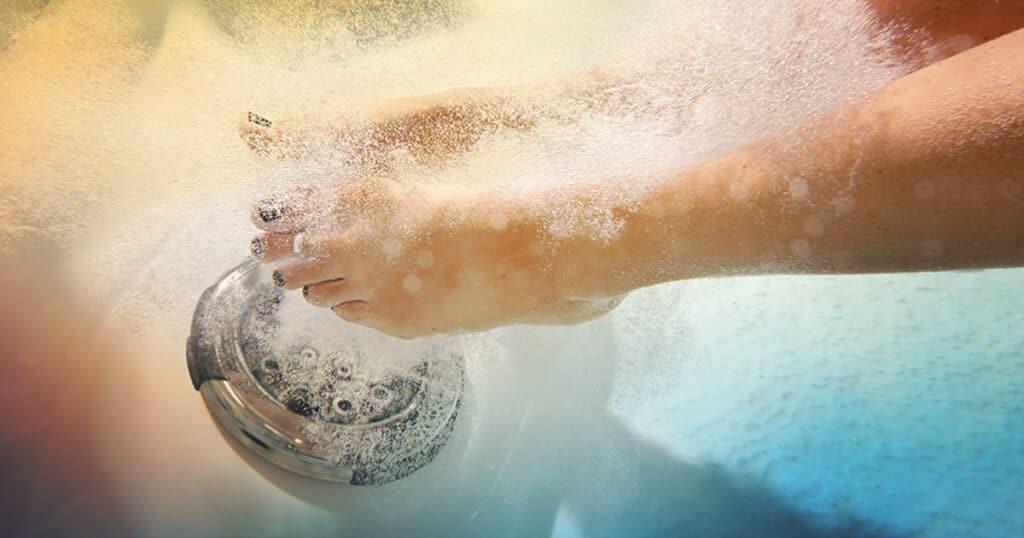 foot jets hot tub