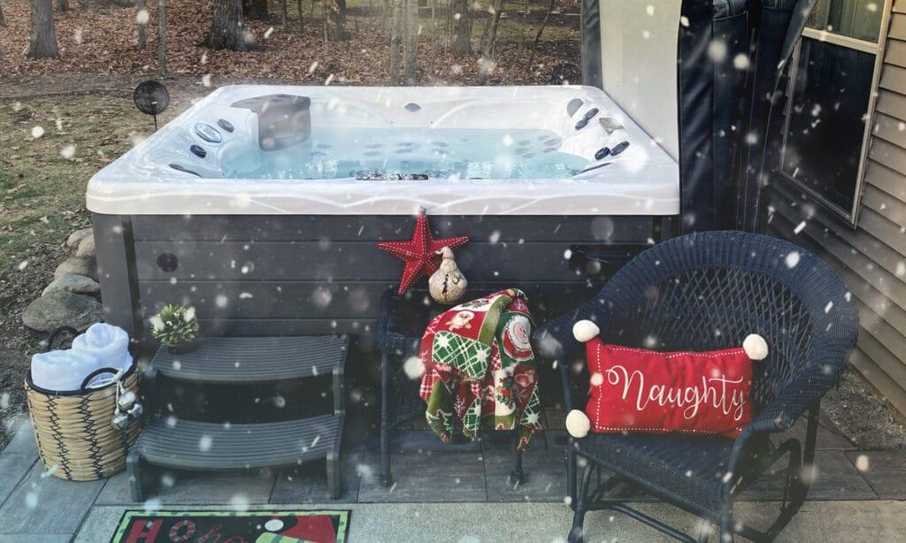 backyard Christmas decor