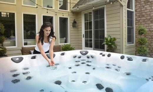 chlorine bromine hot tub