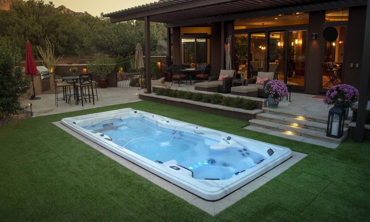 The Dual Zone Swim Spa Part Hot Tub Part Pool All Fun Master Spas Blog
