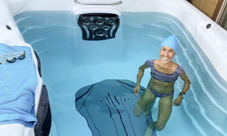 Jordan Hasay swimming