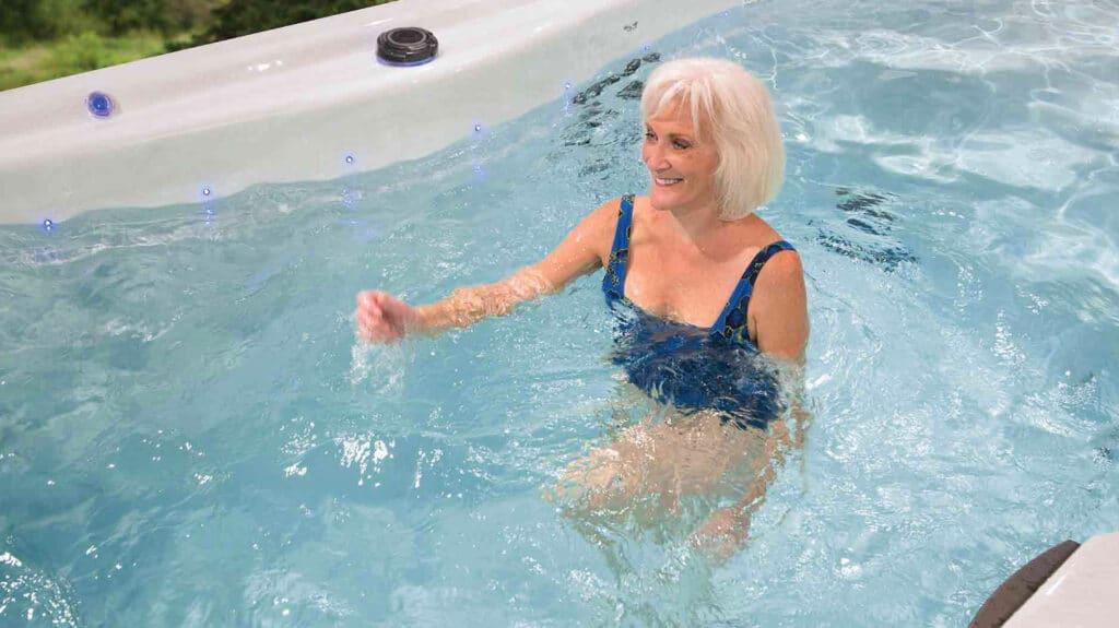 home water aerobics routine