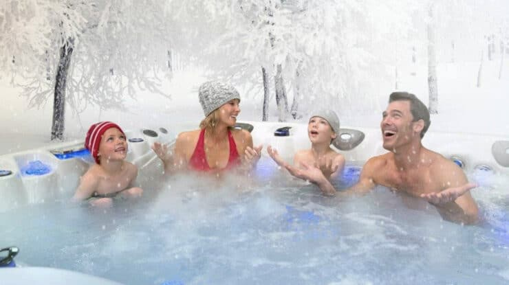 hot tub delivery winter