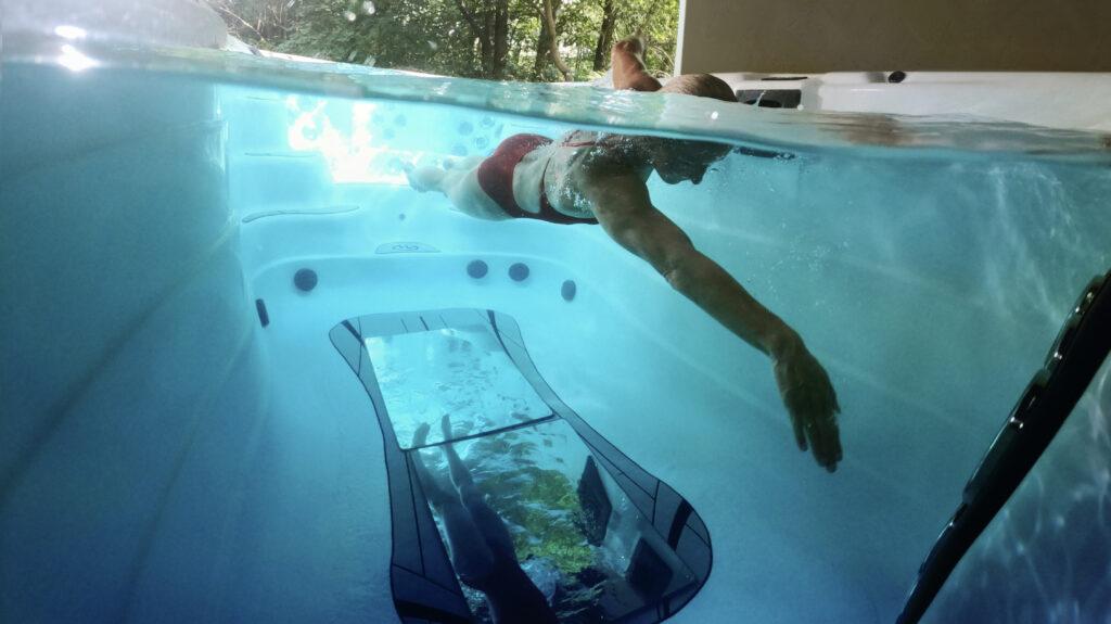 swim spa mirrors