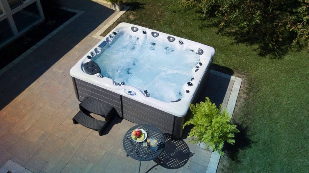 foot massage and hot tub
