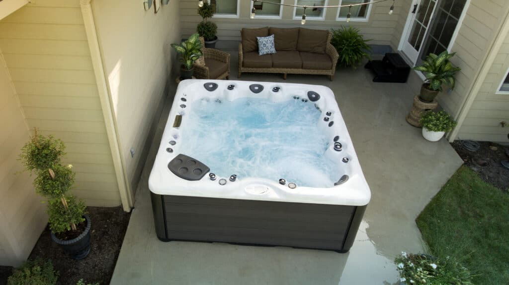 how tall is a hot tub