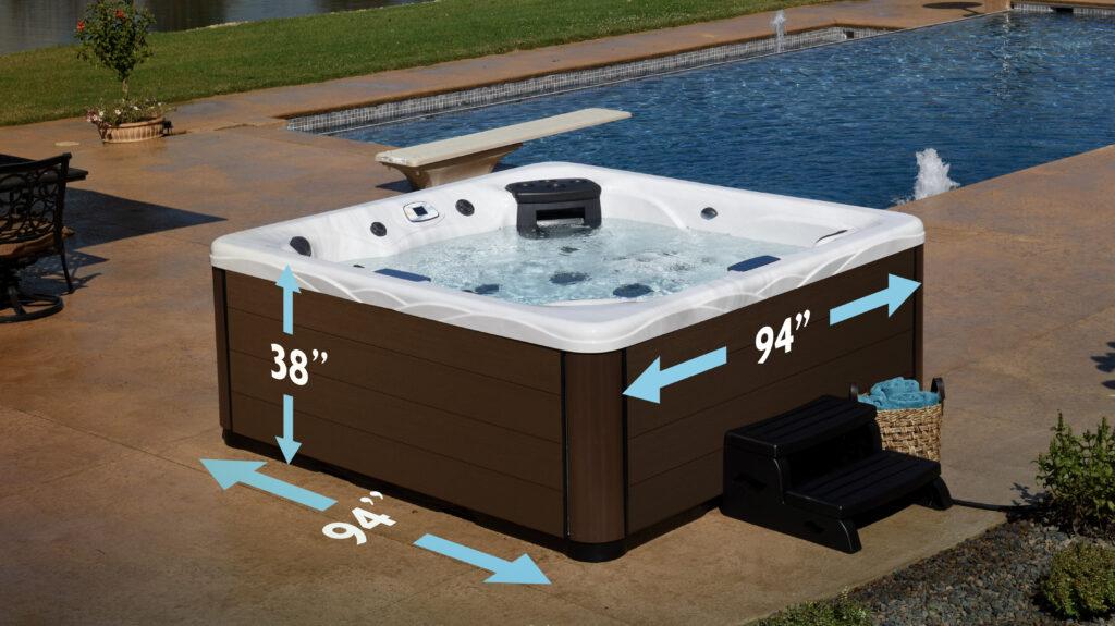 how big is a hot tub