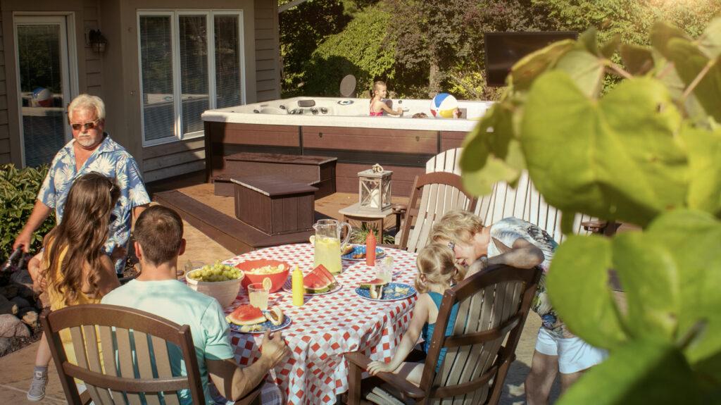 July 4 pool party menu