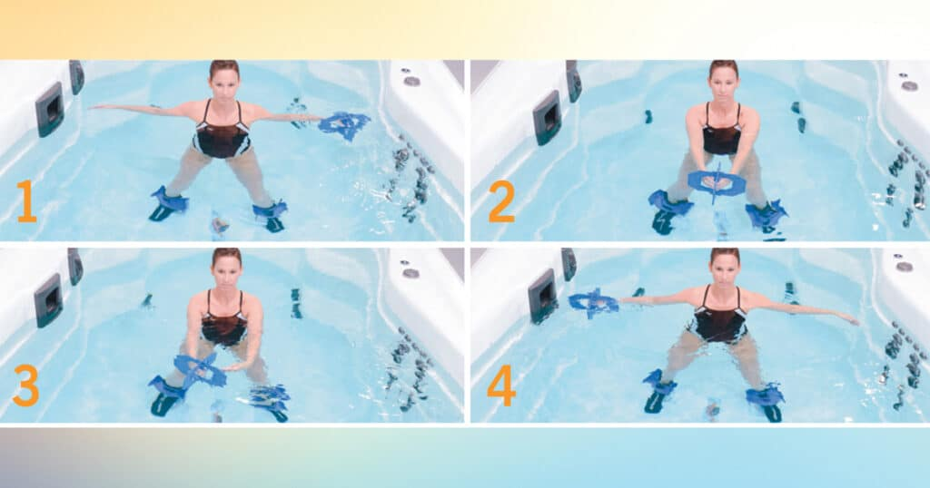 water aerobics for core