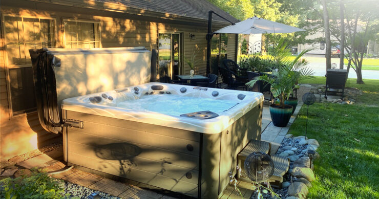 hot tub landscaping tips