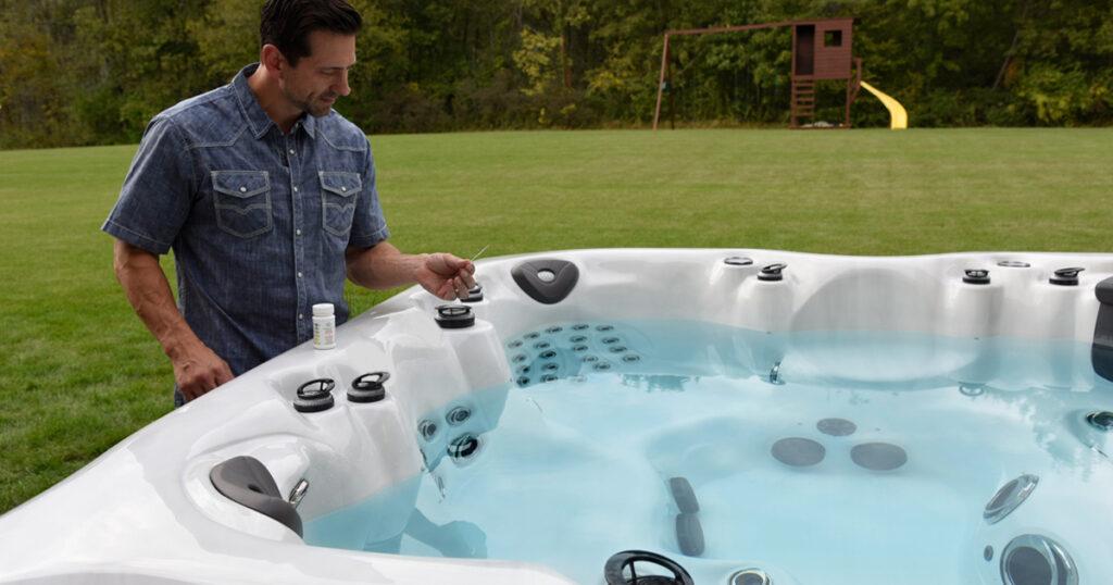 pH hot tub chemicals