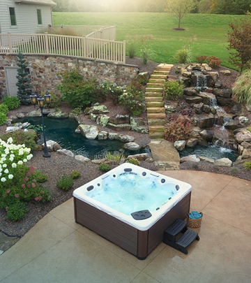 Create a beautiful backyard home for your hot tub where you can relax