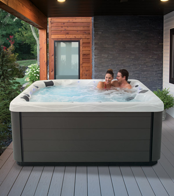 A master spas hot tub can fit right on your back porch so you can enjoy it at your convenience