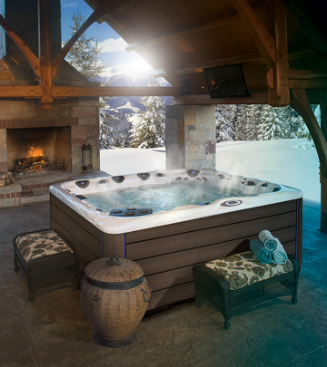Winter isn't so bad when you can enjoy a warm hot tub to soothe away aches and pains