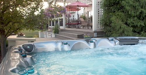 Find great backyard ideas for your master spas hot tub