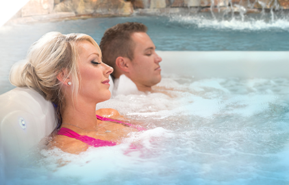 Our hydrotherapy jets soothe your aching muscles and melt away the stress of the day.