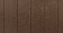 MasterTech wood-look hot tub skirt in walnut grove color