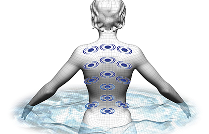 Bio-magnets are placed at strategic points to relieve your body of stress and promote circulation