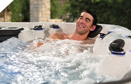 Relaxing in a Michael Phelps Legend Series Spa