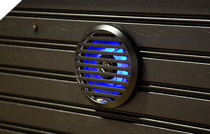 Speakers with the Fusion sound system light up