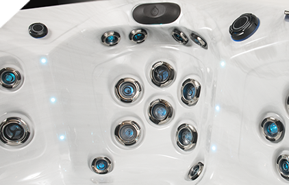 The bio-magnets are located on all master spas