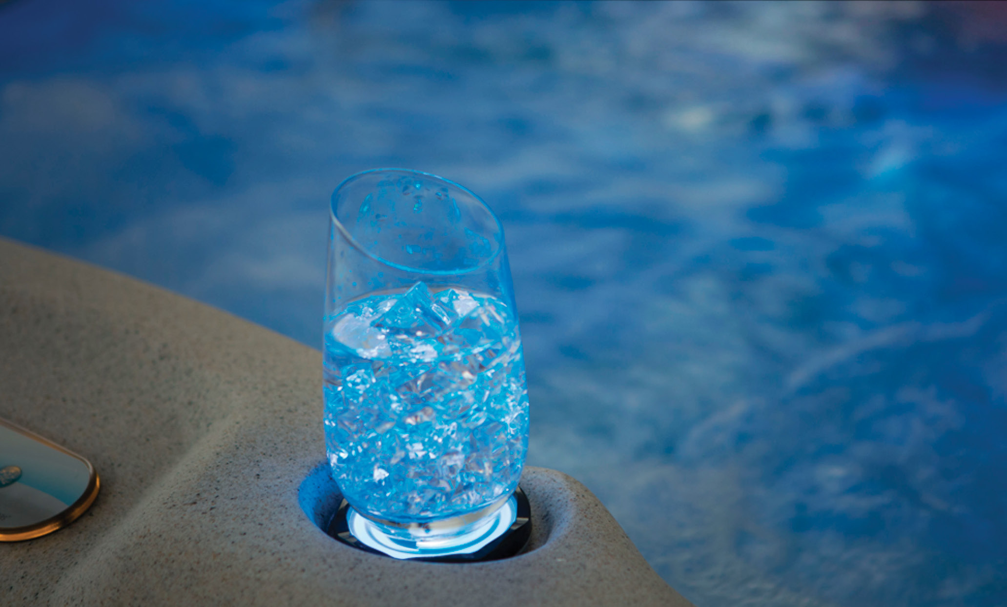hot tub backlit cupholders