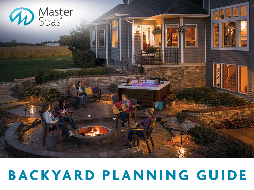 Hot tub backyard planning guide front cover