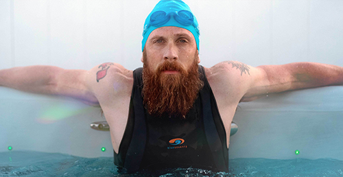 James Lawrence in his Master Spas H2x Challenger Series Swim Spa