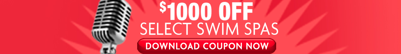 Get $1,000 off of your swim spa purchase through our Radio Listener promotion